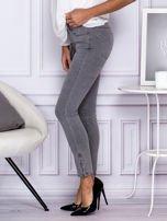 Szare spodnie z suwakami na nogawkach                                  zdj.                                  5