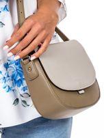 Szaro-beżowa torebka listonoszka ze skóry ekologicznej                                  zdj.                                  3