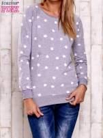 Szaro-biała bluza z nadrukiem jabłuszka                                                                          zdj.                                                                         2