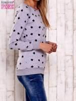 Szaro-czarna bluza z nadrukiem jabłuszka                                  zdj.                                  3