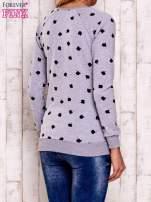 Szaro-czarna bluza z nadrukiem jabłuszka                                                                          zdj.                                                                         4