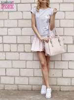 Szaro-różowa dresowa sukienka tenisowa z kieszonką                                  zdj.                                  2