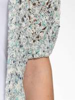 Szarozielony dziergany sweter typu kardigan z krótkim rękawem                                  zdj.                                  6