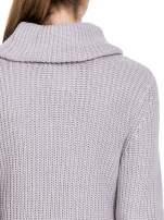 Szary ciepły sweter z golfowym kołnierzem                                  zdj.                                  7