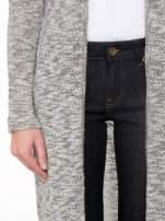 Szary melanżowy sweter typu długi kardigan                                  zdj.                                  6