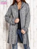 Szary melanżowy sweter z kapturem                                  zdj.                                  6
