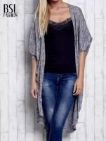 Szary melanżowy sweter z rękawem nietoperz                                                                          zdj.                                                                         1