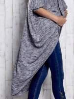 Szary melanżowy sweter z rękawem nietoperz                                  zdj.                                  7