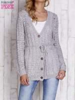 Szary sweter zapinany na guziki                                                                          zdj.                                                                         1