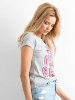 Szary t-shirt Girlgang                                  zdj.                                  3