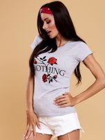 Szary t-shirt damski NOTHING                                  zdj.                                  6
