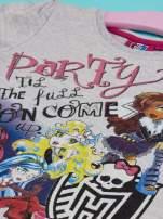 Szary t-shirt dla dziewczynki MONSTER HIGH                                                                          zdj.                                                                         3