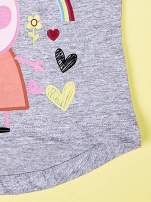 Szary t-shirt dla dziewczynki ŚWINKA PEPPA                                  zdj.                                  4
