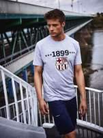 Szary t-shirt męski FC BARCELONA                                   zdj.                                  1