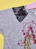 Szary t-shirt z koronką dla dziewczynki EVER AFTER HIGH                                  zdj.                                  3