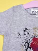 Szary t-shirt z koronką dla dziewczynki EVER AFTER HIGH                                  zdj.                                  6