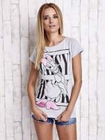 Szary t-shirt z nadrukiem DAISY                                  zdj.                                  5