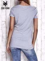 Szary t-shirt z nadrukiem ZOO YORK                                  zdj.                                  5