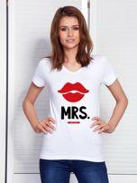 T-shirt biały dla par MRS.                                  zdj.                                  1