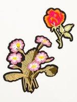 T-shirt damski brzoskwiniowy z naszywkami                                  zdj.                                  2