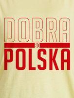 T-shirt damski patriotyczny DOBRA BO POLSKA żółty                                  zdj.                                  2