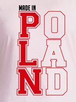 T-shirt damski patriotyczny MADE IN POLAND jasnoróżowy                                  zdj.                                  2