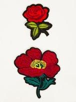 T-shirt damski różowy z naszywkami FLOWERS                                  zdj.                                  2