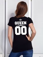 T-shirt dla par czarny QUEEN                                  zdj.                                  1