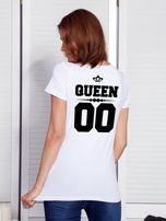 T-shirt dla par z napisem biały                                  zdj.                                  1