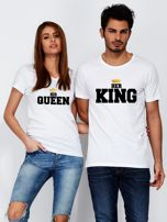 T-shirt dla zakochanych biały QUEEN                                   zdj.                                  3
