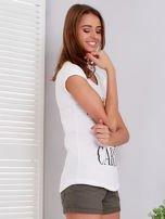 T-shirt ecru SHOPPING IS MY CARDIO                                  zdj.                                  3