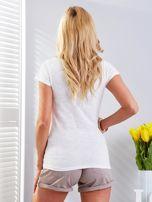 T-shirt ecru z motylem                                  zdj.                                  2
