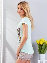 T-shirt miętowy z motylem                                  zdj.                                  4