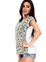 T-shirt w kolorowe drobne kwiatki                                  zdj.                                  9