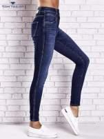 TOM TAILOR Ciemnoniebieskie przecierane spodnie jeansowe                                  zdj.                                  2