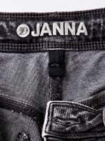 TOM TAILOR Ciemnoszare marmurkowe spodnie jeansowe slim                                   zdj.                                  4