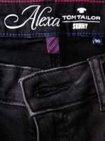 TOM TAILOR Ciemnoszare spodnie jeansowe slim z przetarciami                                  zdj.                                  4