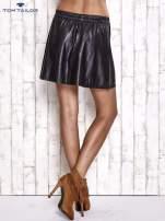 TOM TAILOR Czarna skórzana spódnica z kieszeniami