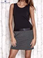 TOM TAILOR Czarna sukienka o kroju litery A                                  zdj.                                  1