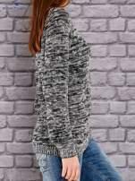 TOM TAILOR Czarny melanżowy sweter                                   zdj.                                  2