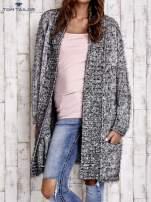 TOM TAILOR Czarny włochaty sweter z kieszeniami                                                                          zdj.                                                                         1