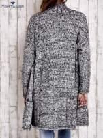 TOM TAILOR Czarny włochaty sweter z kieszeniami                                                                          zdj.                                                                         5