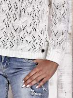 TOM TAILOR Ecru ażurowy sweter                                  zdj.                                  6