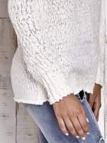 TOM TAILOR Ecru włóczkowy sweter                                                                          zdj.                                                                         5