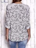 TOM TAILOR Jasnoróżowa koszula z podwijanymi rękawami wzór paisley                                  zdj.                                  2