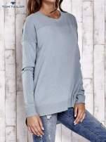 TOM TAILOR Jasnozielony warstwowy sweter