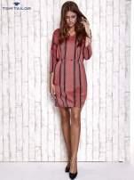 TOM TAILOR Koralowa graficzna sukienka z wiązaniem                                  zdj.                                  4
