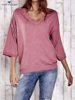 TOM TAILOR Koralowy sweter z satynowym tyłem