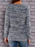 TOM TAILOR Niebieski melanżowy sweter                                   zdj.                                  3