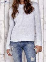 TOM TAILOR Niebieski sweter z dodatkiem wełny z alpaki